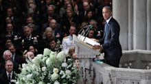 Obama Asks Americans To Rise Above 'Petty Politics' During John McCain Eulogy