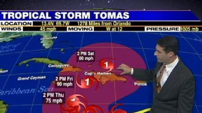 Tomas To Steer Clear Of Fla.