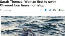 Gb, donna Usa attraversa la Manica a nuoto per 4 volte senza sosta