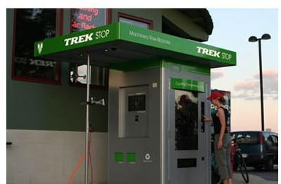 Trek Stop: a vending machine for skinny people