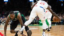 Celtics squander 28-point lead to Clippers after losing Kyrie Irving to knee injury