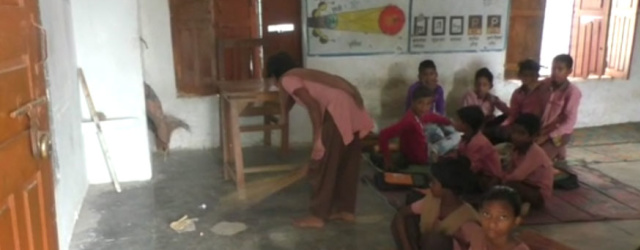 In This UP School, Students Are Forced to Sweep Floors of Classroom