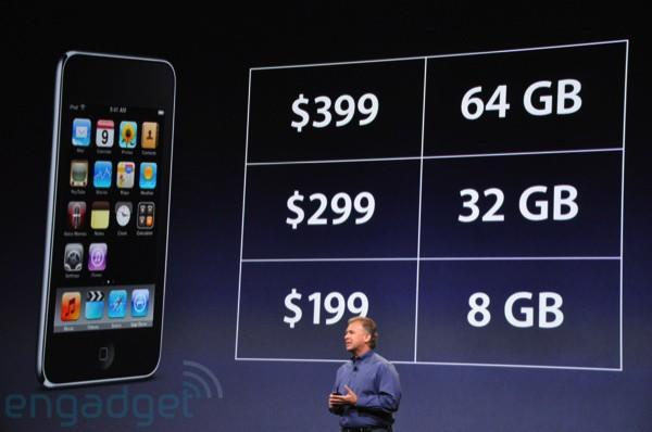Apple updates iPod touch line, drops prices, adds top-end 64GB model