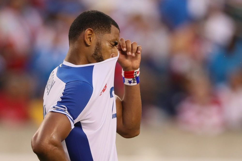 Anibal Godoy had a rough day for Panama in its Gold Cup loss to Costa Rica. (Getty)