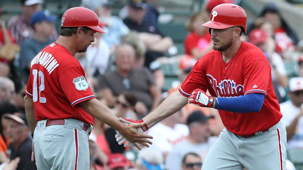 Career minor leaguer holds back tears after making Phillies' roster