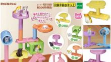 日本扭蛋「貓樹屋」 六款可組合成巨型貓陣