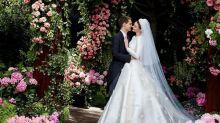 披上來自 Dior 的夢幻嫁衣!Miranda Kerr 與 Evan Spiegel 多張甜蜜結婚照終於曝光!