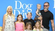'Shame on you!': Tori Spelling fires back at trolls who called her kids 'raggedy' and 'unfit' in back-to-school photo