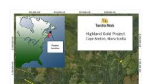 4.0 Metres Grading 16.15 Grams per Tonne Gold Returned from Initial Assay Results from New Drilling at Transition Metals Highland Gold Project