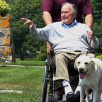 Statue commemorates President George H.W. Bush's service dog, Sully