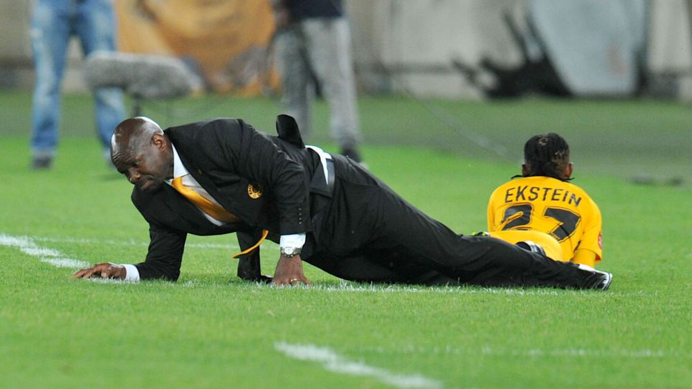 'Kaizer Chiefs are not a kicking team, we're a playing team' - Steve Komphela slams 'pathetic' pitch