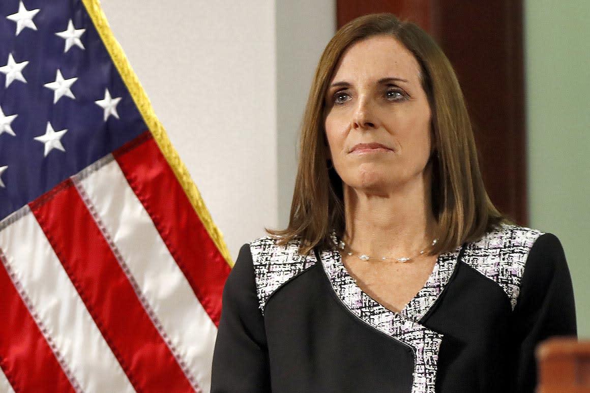 Sen. Martha McSally, assault survivor, backs general accused of misconduct