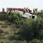 Three killed, 18 injured when bus rolls over on highway embankment