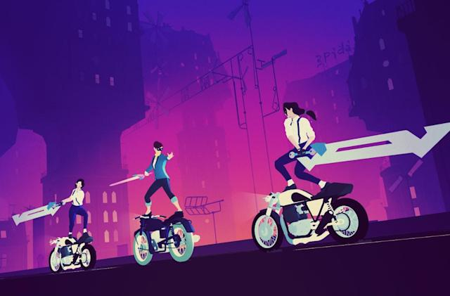 'Sayonara Wild Hearts' is a neon-filled 'pop album video game'