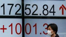 Euro, stocks rise ahead of French election; bonds fall