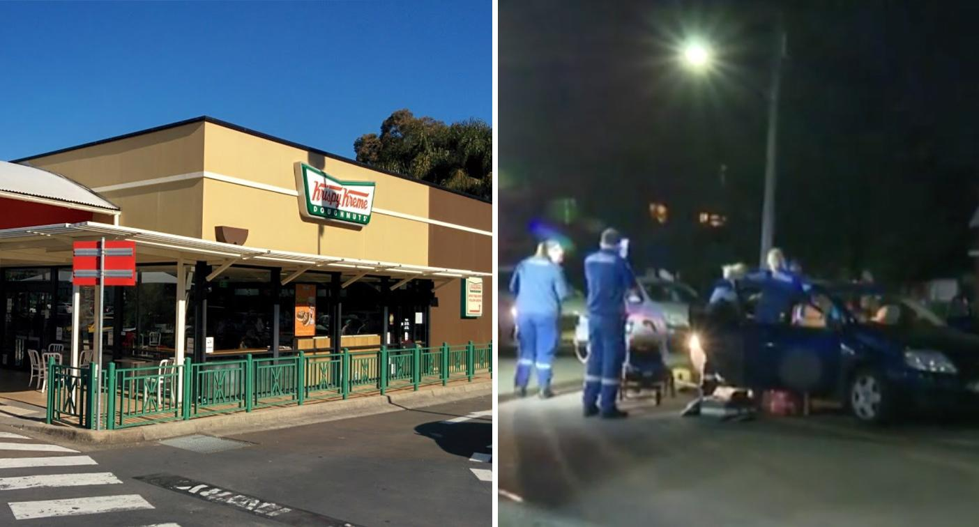 Police search for driver involved in Krispy Kreme carpark brawl