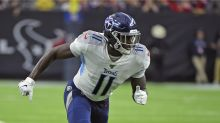 Report: Titans' A.J. Brown expected to play against Bills despite bone bruise on knee