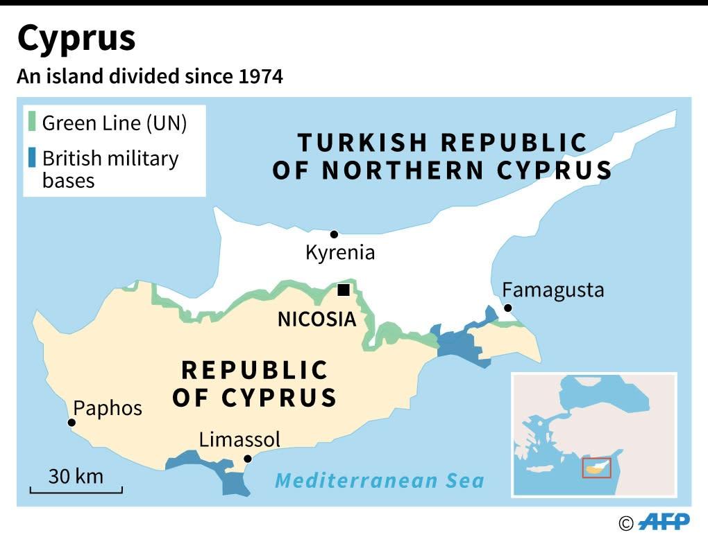 Factfile on Cyprus (AFP Photo/-, -)