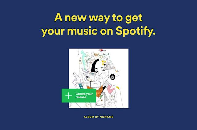 Spotify offers free direct uploads for indie artists