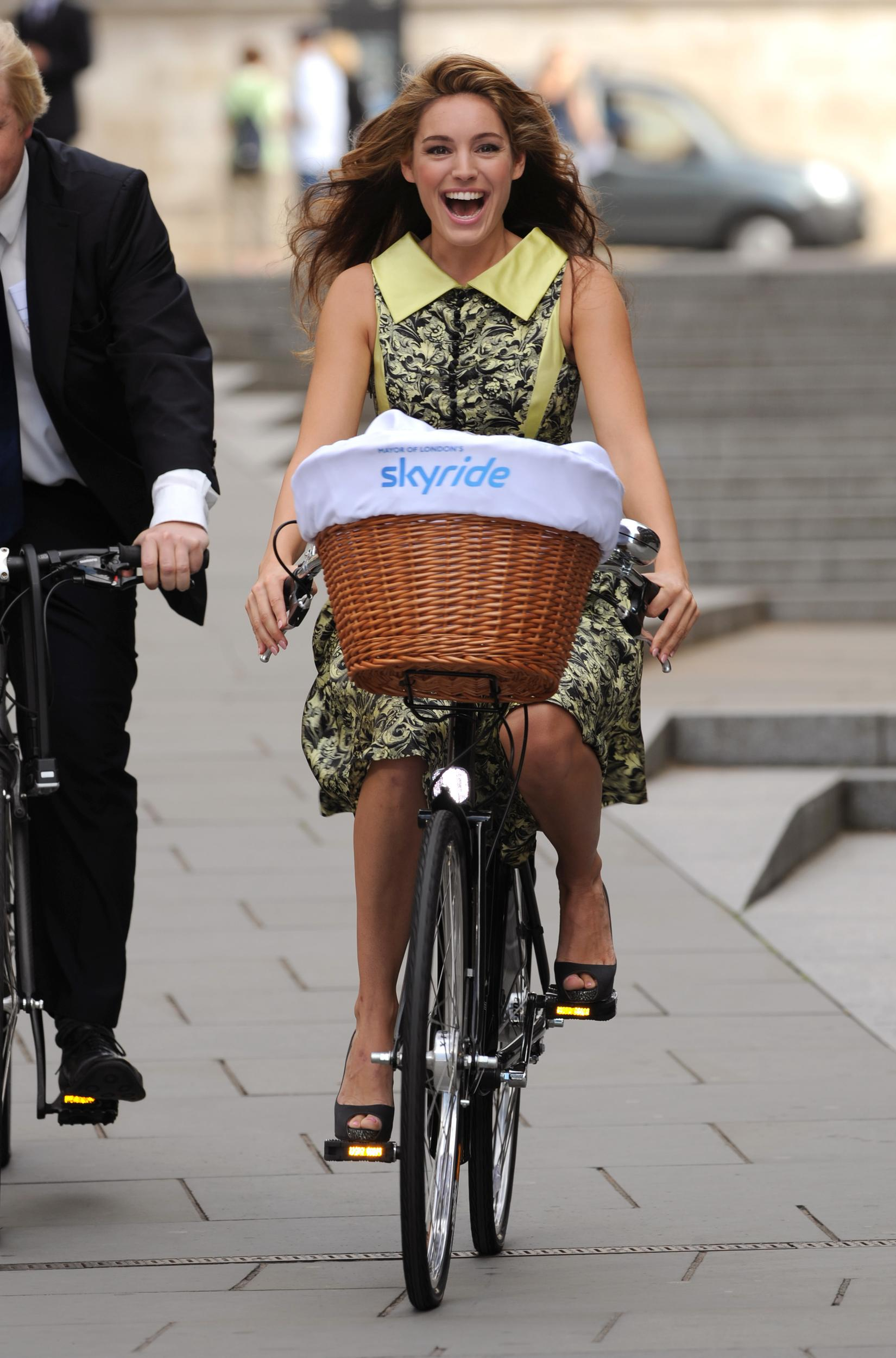 Boris Johnson and TV star Kelly Brook launch the Mayor of London's Skyride, Peter's Hill steps, London.