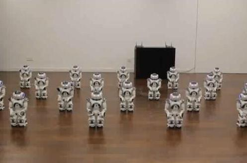 Nao robots get together to get down, put a ring on it (video)