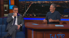 Jon Stewart flips the script and interviews Stephen Colbert on 'The Late Show'