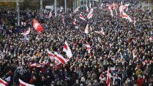 Tens of thousands march in Belarus despite firearms threat