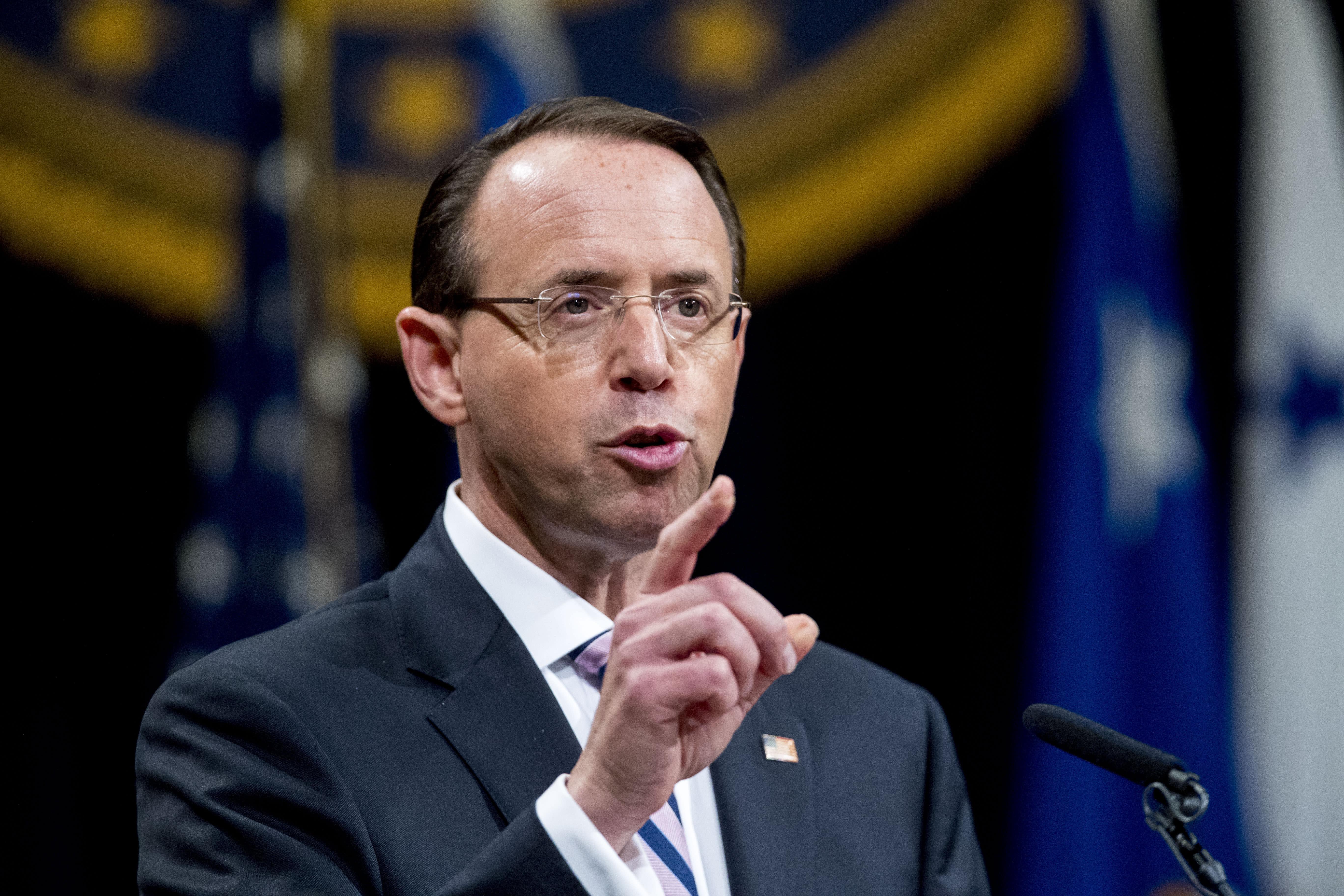 Rosenstein: Russia probe justified, closing it wasn't option
