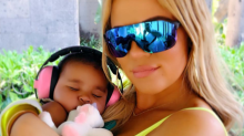 Khloé Kardashian opens up about having trouble breastfeeding baby True due to stress