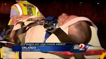 Burglary leads to chase that ends in crash