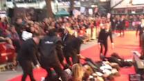 Domestic Violence Protesters Storm Red Carpet at Suffragette Premiere