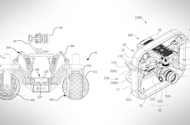 DJI patent imagines a drone that can't fly