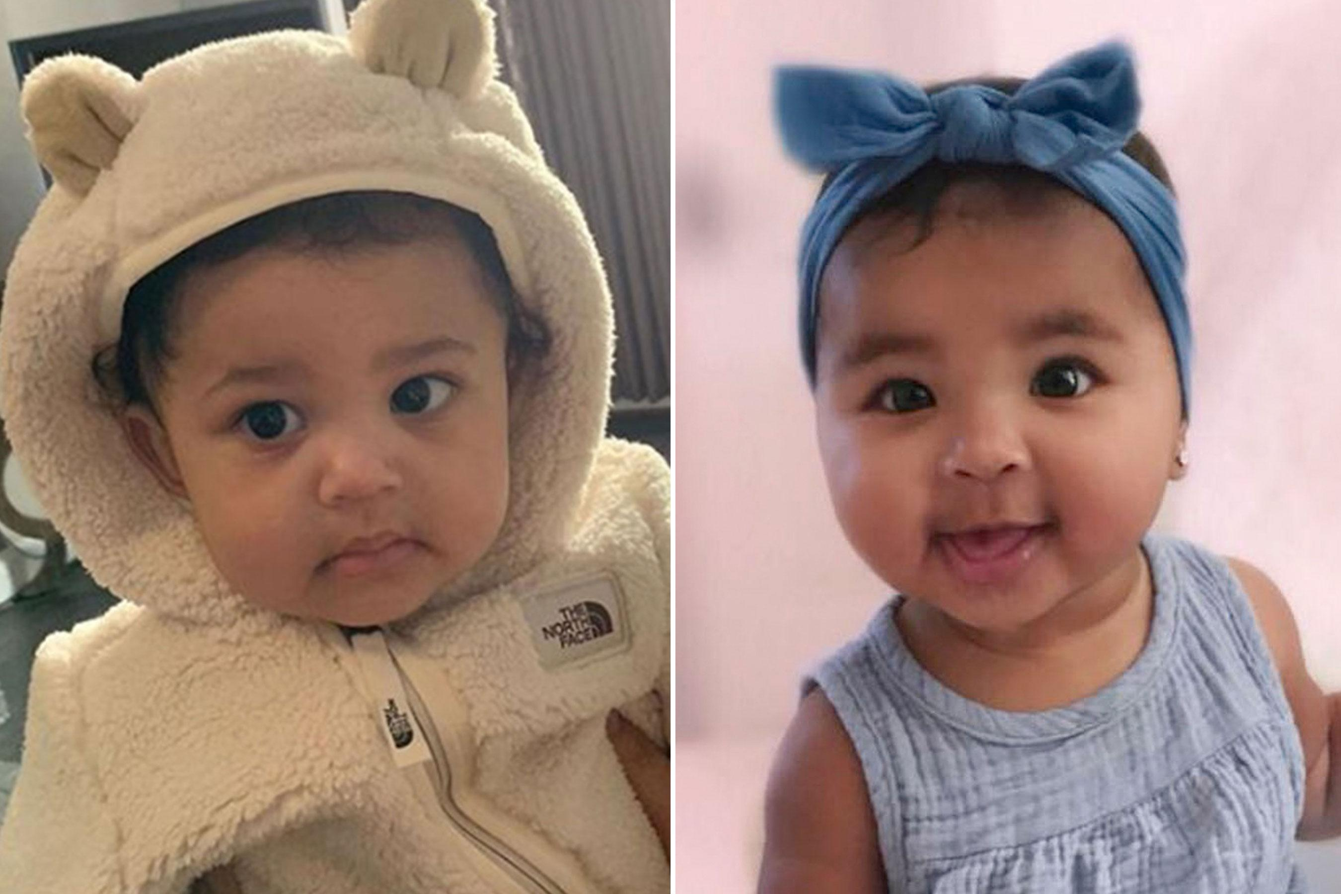 2baebebbbd83c8 Baby Bling! Khloé Kardashian s  Dying  Over True s Hoop Earrings as Stormi  Rocks Diamond Chain