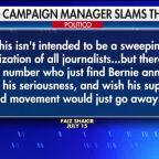 Bernie Sanders campaign blames the media for candidate's slip in the polls