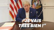 """Donald Trump, hospitalisé à cause du covid, dit aller """"beaucoup mieux"""""""