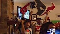 Across Houston, fans celebrate playoff win