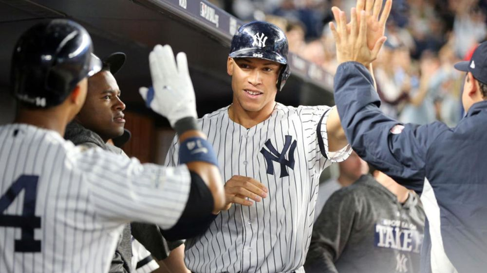 Rookie Aaron Judge put up monster numbers in 2017, and the best is likely still to come. (AP)