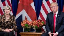 Trump se reunirá com Theresa May em Davos