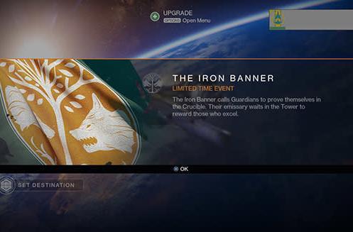 Destiny's Iron Banner event kicks off October 7
