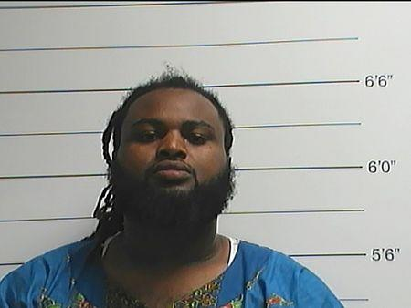 Cardell Hayes is seen in a booking photo released by the New Orleans Police Department