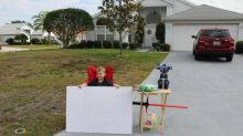 Sweetest 6-year-old ever sets up 'free toy' stand