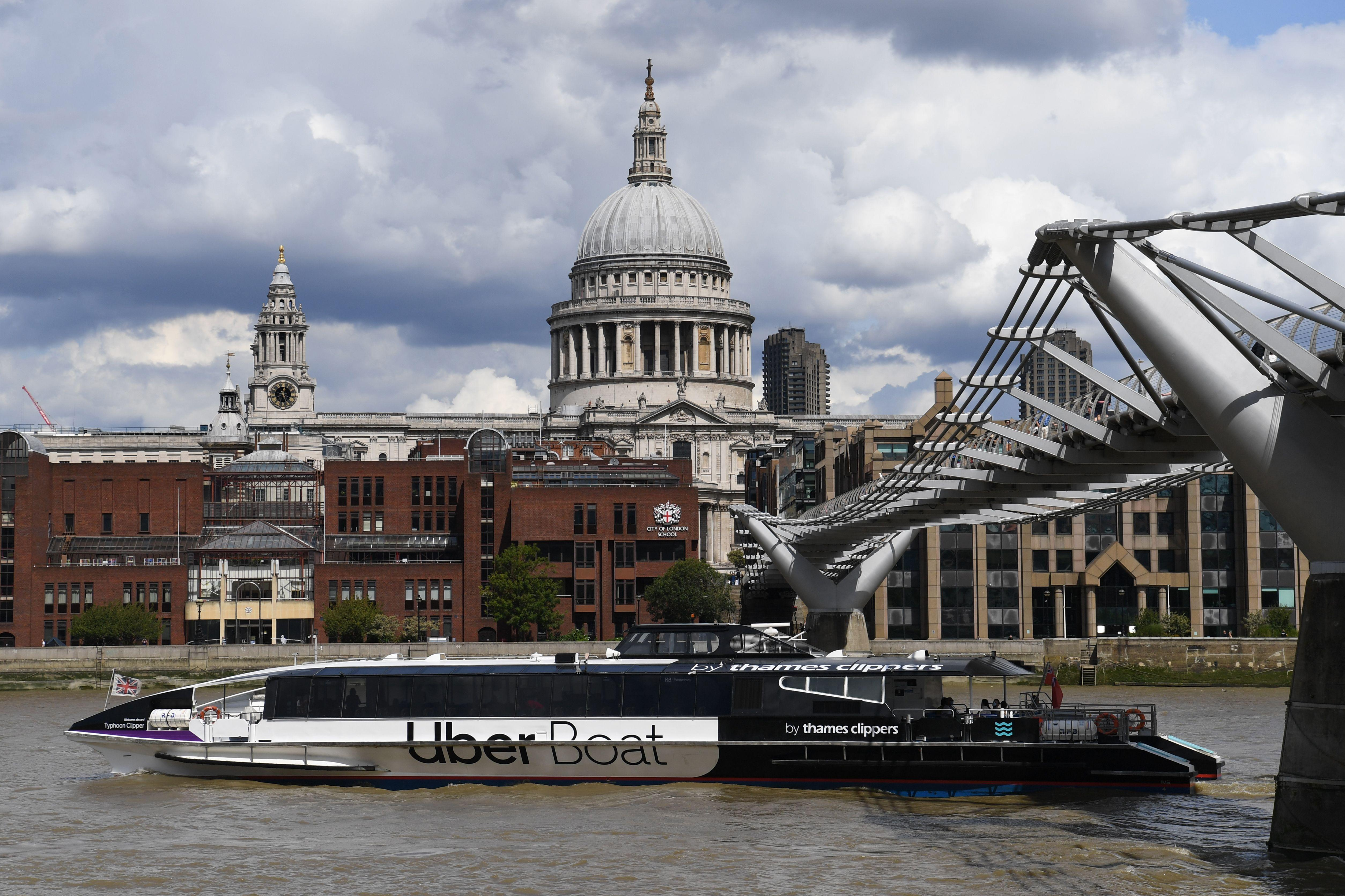Uber launches London boat service with Thames Clippers