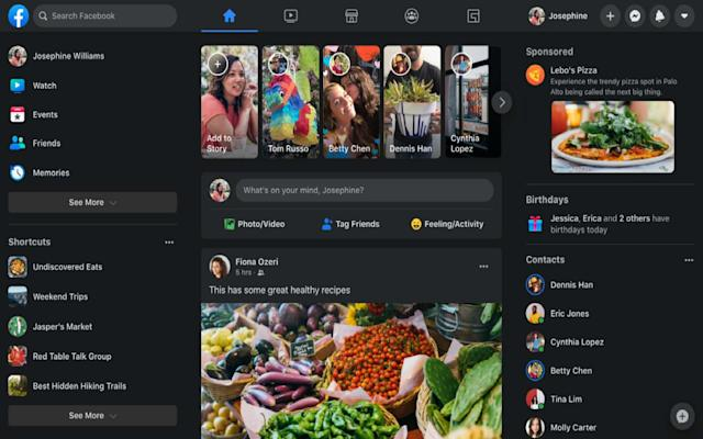 Facebook finally lets desktop users opt-in to dark mode