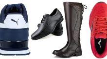 Sapato social, bota, tênis Mizuno, Vans, Puma e New Balance em oferta