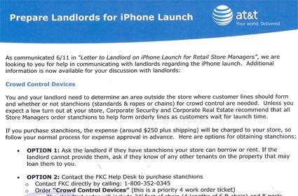 AT&T preps landlords for iPhone campers