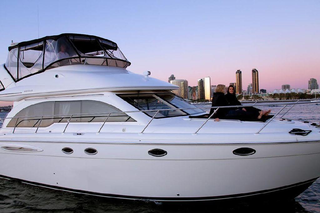 <p><strong>Where? </strong>Harbor Island, San Diego, USA</p>  <p>Tucked away between the Sheraton San Diego Hotel and the Hilton, the 46 foot motor yacht was chartered by chart toppers, One Direction. The yacht boasts two bedrooms, two bathrooms and a fully equipped kitchen.</p>  <p><strong>Price per person, per week: </strong>£144</p>