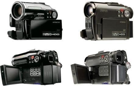 Two more Hitachi hybrid DVD / HDD camcorders: DZ-HS301, DZ-HS303