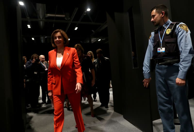 U.S. House Speaker Pelosi says at climate summit: 'We are still in'