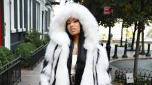 Nicki Minaj sizzles in a fur coat during 76-degree heat