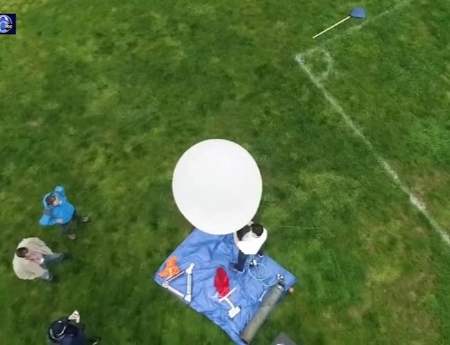 6abc Weather Balloon lands in Mount Holly, N J  [Video]